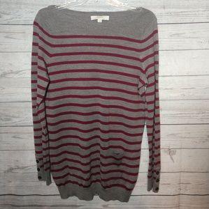 Ann Taylor Loft size medium burgundy & gray tunic